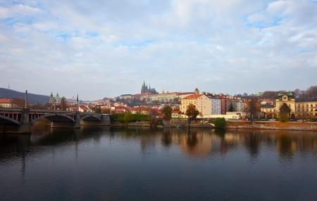 Morning view of Prague from Vltava  Czech Republic Stock Photo - 13987270