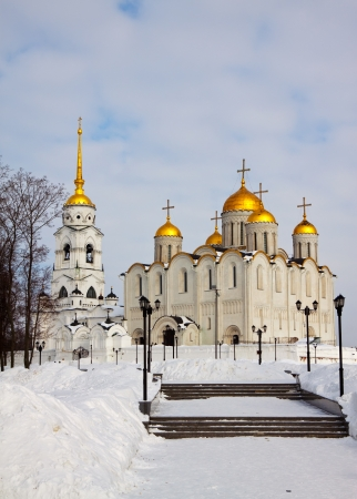 assumption: Assumption cathedral  at Vladimir in winter, Russia Stock Photo