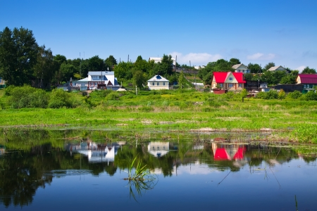 outskirts: Dwelling houses on the outskirts of Murom. Russia