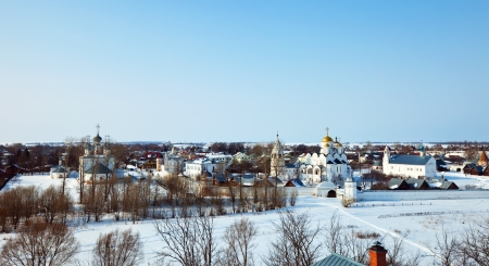 Panoramic view of Suzdal in winter. Russia Stock Photo - 14030139
