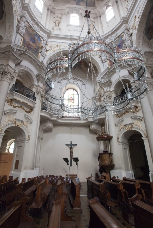 Interior of Church of St. Nicholas   in Prague,   Czech Republic Stock Photo - 14145585