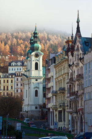 karlovy: View of Karlovy Vary. Czech Republic