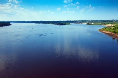 oka: Oka River near Murom in summer. Russia Stock Photo