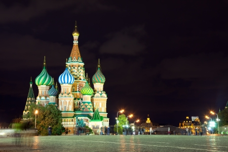Kind to the  Red Square in night. Moscow, Russia Stock Photo - 14265144