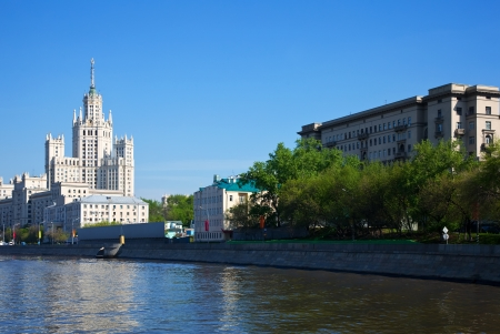 build in: View of Moscow with Kotelnicheskaya Embankment Building (was build in 1947- 1952)