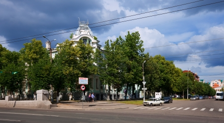 the textile industry: IVANOVO, RUSSIA - JUNE 27: View of Ivanovo - Museum of cotton on June 27, 2012 in Ivanovo, Russia. Ivanovo city known as center of textile industry from 1561. Population: 409,277 (2010 Census)