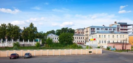 residential settlement: Dwelling houses in historic district in Ivanovo. Russia