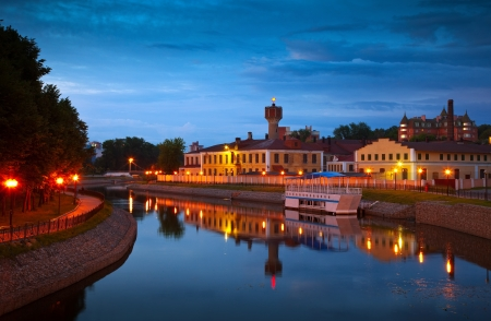 historical district of Ivanovo in summer night. Russia photo