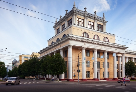 house trained: IVANOVO, RUSSIA - JUNE 27:  Ivanovo State Medical Academy on June 27, 2012 in Ivanovo, Russia. The Academy was founded in 1930, now there are trained about 3,000 students from 22 different countries