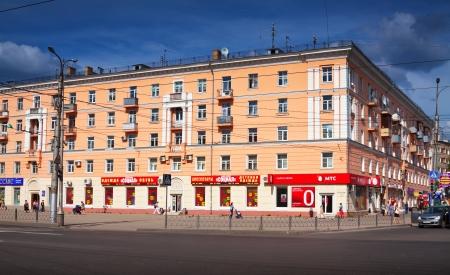 censo: Ivanovo, Rusia - 27 de junio: Vista de Ivanovo - Avenida de Lenin el 27 de junio de 2012 en Ivanovo, Rusia. Ciudad es el centro de la industria textil y de la educaci�n. Poblaci�n: Poblaci�n: 409.277 (Censo 2010)