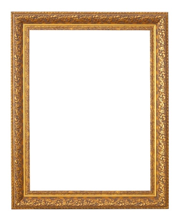 old bronze frame. Isolated over white background with clipping path photo