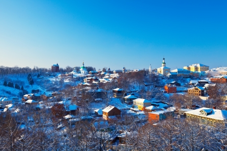 Kind of downtown of  Vladimir city in winter photo