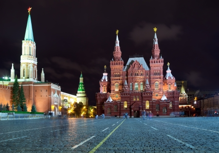 Kind to the  Red Square in night. Moscow, Russia Stock Photo - 14467036
