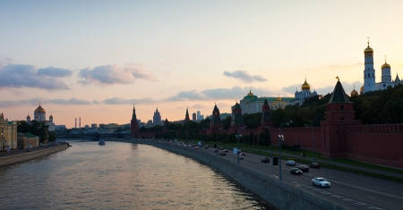 Panoramic view of Moscow in summer sunset. Russia photo