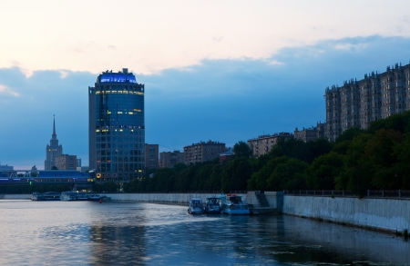 View of Moscow in summer morning  photo