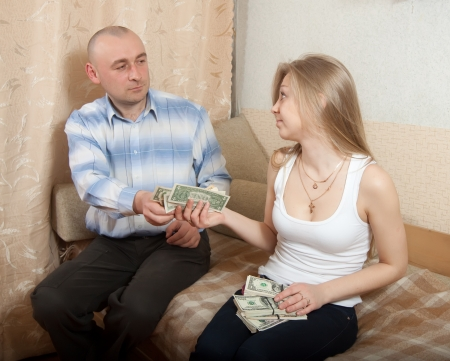 avidity: husband and wife having a financial problems