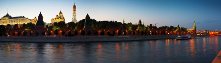 Panorama of Moscow Kremlin in summer night. Russia Stock Photo - 14605526