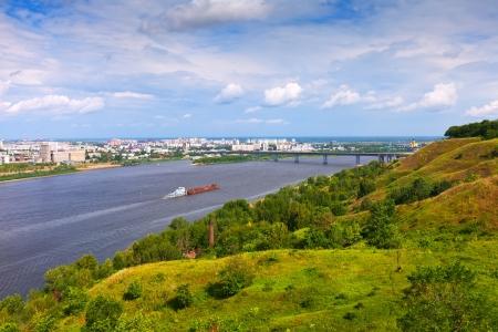 nizhni novgorod: View of Nizhny Novgorod with  Oka River. Russia Stock Photo