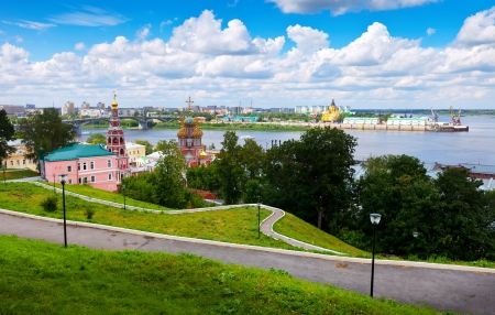 Summer view of historic district of Nizhny Novgorod. Russia photo