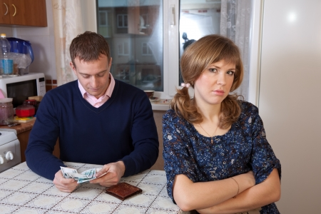 The quarrel in the family over money photo