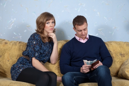 husband and wife having a financial problems  photo