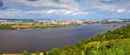 nizhny novgorod: Summer view of Nizhny Novgorod with Oka river. Russia