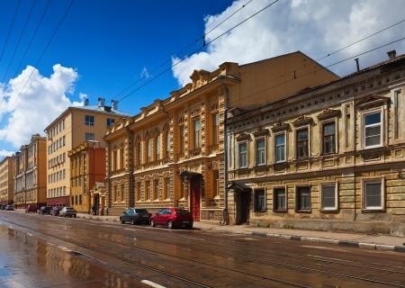 nizhni novgorod: Ilinskaya street in history district of Nizhny Novgorod. Russia