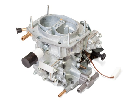carburettor: New carburetter  Isolated on white background  with clipping path