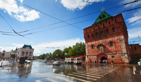NIZHNY NOVGOROD, RUSSIA - JULY 19: View on Kremlin of XVI century in July 19, 2012 in Nizhny Novgorod, Russia. City was founded in 1221, now is fifth largest city in Russia - population of 1,250,615 Stock Photo - 14685829