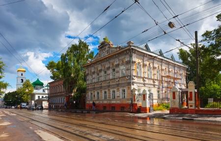 Ilinskaya street in history district of Nizhny Novgorod. Russia