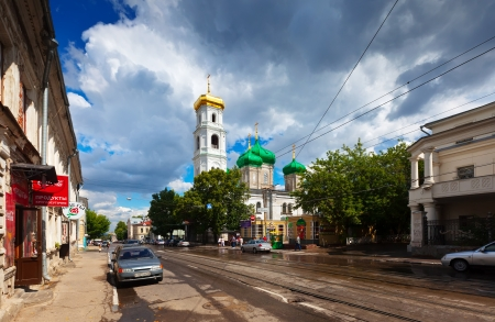nizhni novgorod: NIZHNY NOVGOROD, RUSSIA - JULY 19: Ilinskaya street in old area in July 19, 2012 in Nizhny Novgorod, Russia.City was founded in 1221, now is fifth largest city in Russia with population of 1,250,615