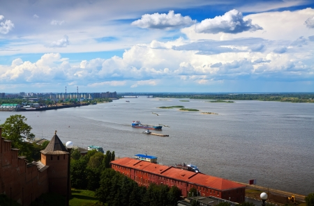 View of Nizhny Novgorod. Junction of Oka river with Volga River Stock Photo - 14757979