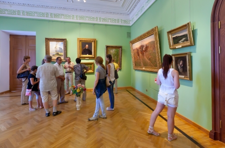 governor: YAROSLAVL, RUSSIA - JULY 28: Interior of Art Museum in July 28, 2012 in Yaroslavl, Russia. Residence of Governor of Yaroslavl, built in 1820. Since 1970, in building is located the Art Museum