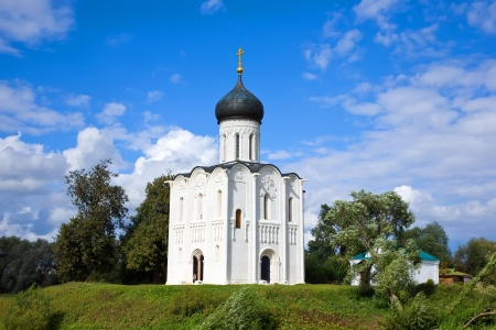 Church of the Intercession on the River Nerl built in the 12th century (Russia) photo