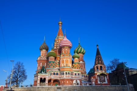 intercession: Intercession Cathedral (St. Basils) at  Moscow in winter, Russia