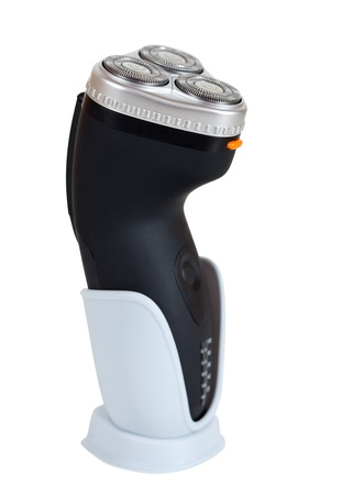 electric razor: electric razor. Isolated  over white background