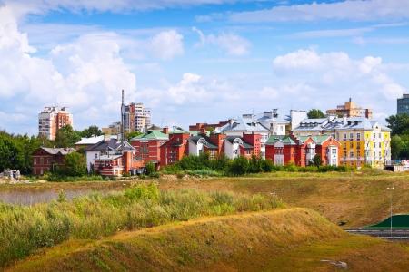 nizhny novgorod: residential district at Nizhny Novgorod in summer. Russia Stock Photo