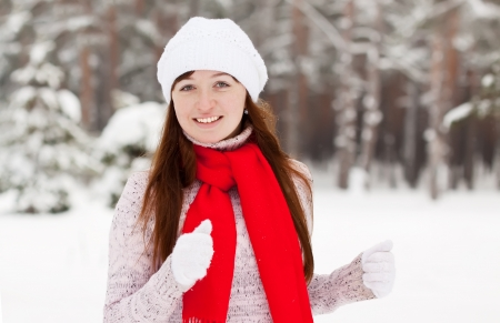 workouts: beauty sporty girl workouts at winter park Stock Photo