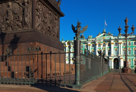 Views of Saint Petersburg. Details of Palace Square