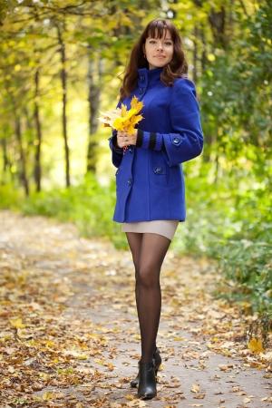 Full length shot of girl  in autumn photo