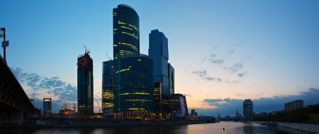 MOSCOW, RUSSIA - JULE 4: Construction of Moscow International Business Center in Jule 4, 2012 in Moscow, Russia. First conceived project in 1992. Project occupies area of 60 hectares. IBC in morning