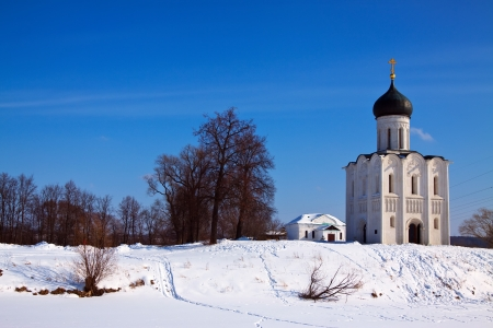 Church of the Intercession on the River Nerl. Inscribed in the Wold Heritage List of UNESCO Stock Photo - 15087489