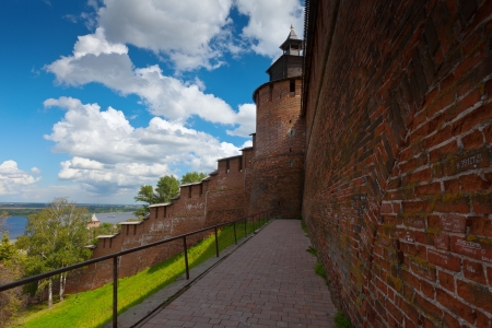 kreml: Kremlin wall at Nizhny Novgorod in summer. Russia