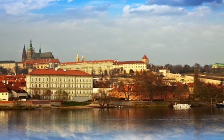 View of Prague Castle from Vltava side, Czechia