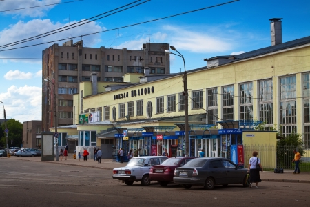 27 years old: IVANOVO, RUSSIA - JUNE 27:  Architecture of the USSR period - Old Railway station on June 27, 2012 in Ivanovo, Russia. The building of the railway station was built in the years 1931-1933
