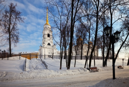 Assumption cathedral  at Vladimir in winter, Russia photo