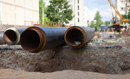 remount: repair of urban water and sanitation systems at residential area of Vladimir