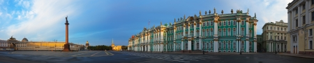 st petersburg: View of Saint Petersburg. Panorama of  Palace Square Stock Photo