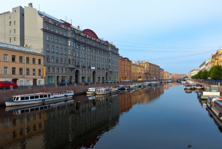 View of St. Petersburg. Moyka River
