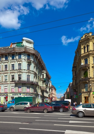 nevsky prospect: ST.PETERSBURG, RUSSIA - AUGUST 3: Nevsky Prospect in August 3, 2012 in St.Petersburg, Russia. The city was founded in 1703, is now the second largest city in Russia